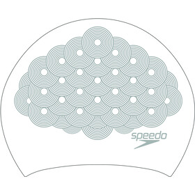 speedo Long Hair Printed Gorro de Natación, white/chrome